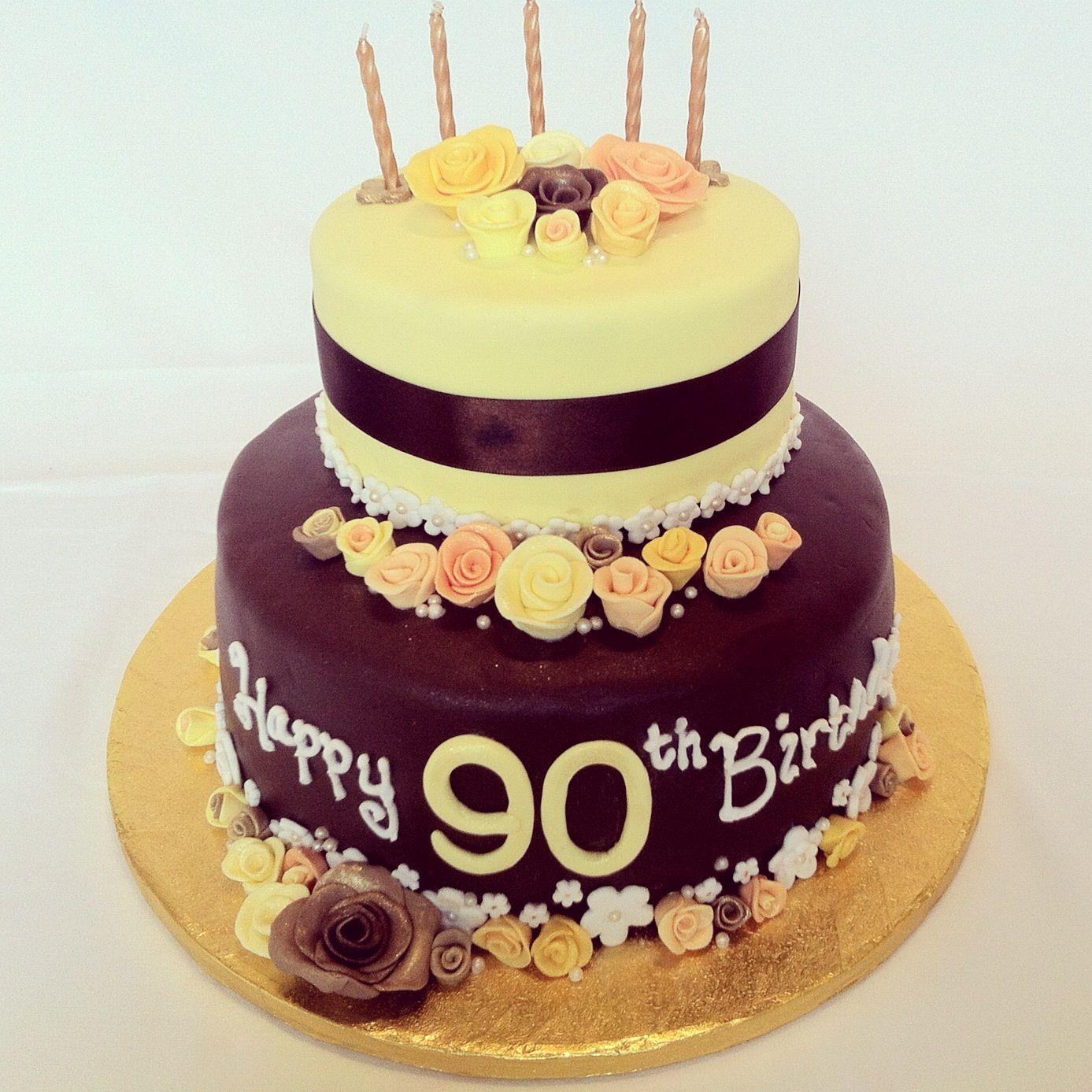 Grandma Anne S 90th Birthday Cake Recipe To Follow 90th Birthday Cakes Cake Birthday Cake