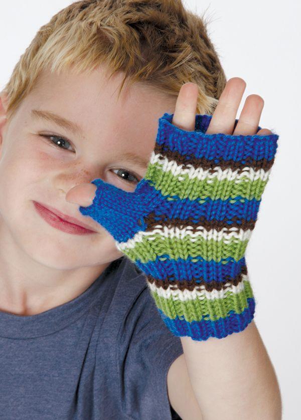 Childrens Fingerless Gloves Pattern Dk Yarn 4mm 1 Size For Kids