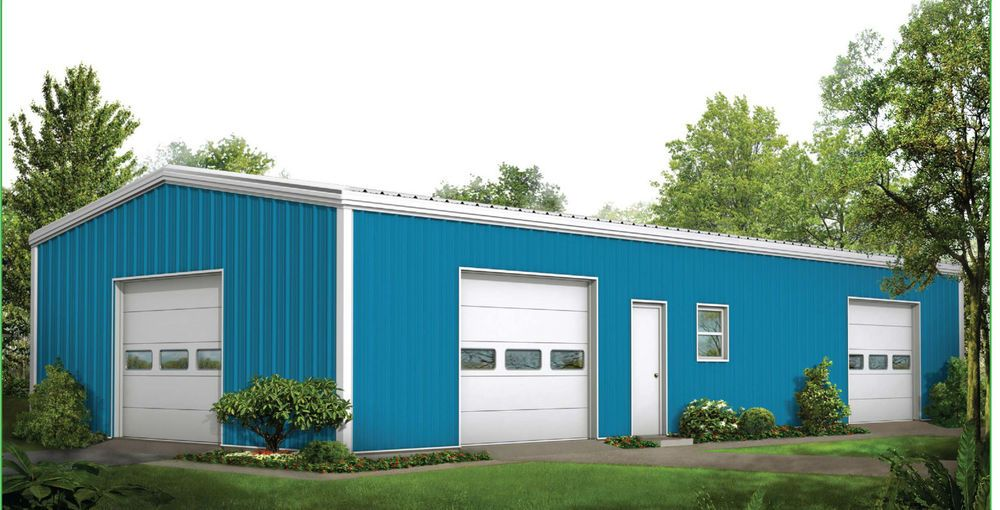 CSC Steel Building Kit 30\' x 60\' x 12\' Including Color Roofing ...
