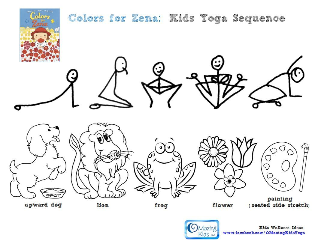 childrens yoga coloring sheets : Yoga Colouring Pages Google Search