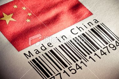 Close Up Of A Barcode With Chinese Flag Wholesale Clothing Websites China Free Dog Food