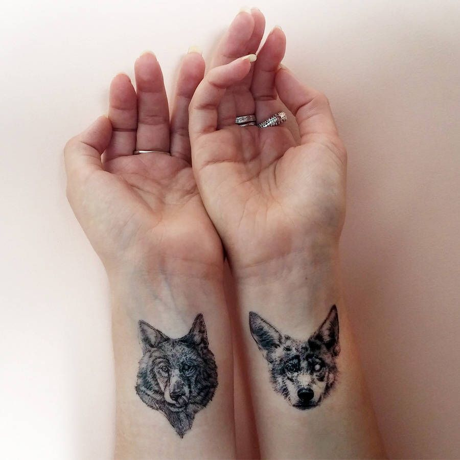 Wolf Pack Temporary Tattoos Tattoos For Women Tattoos Temporary Tattoos
