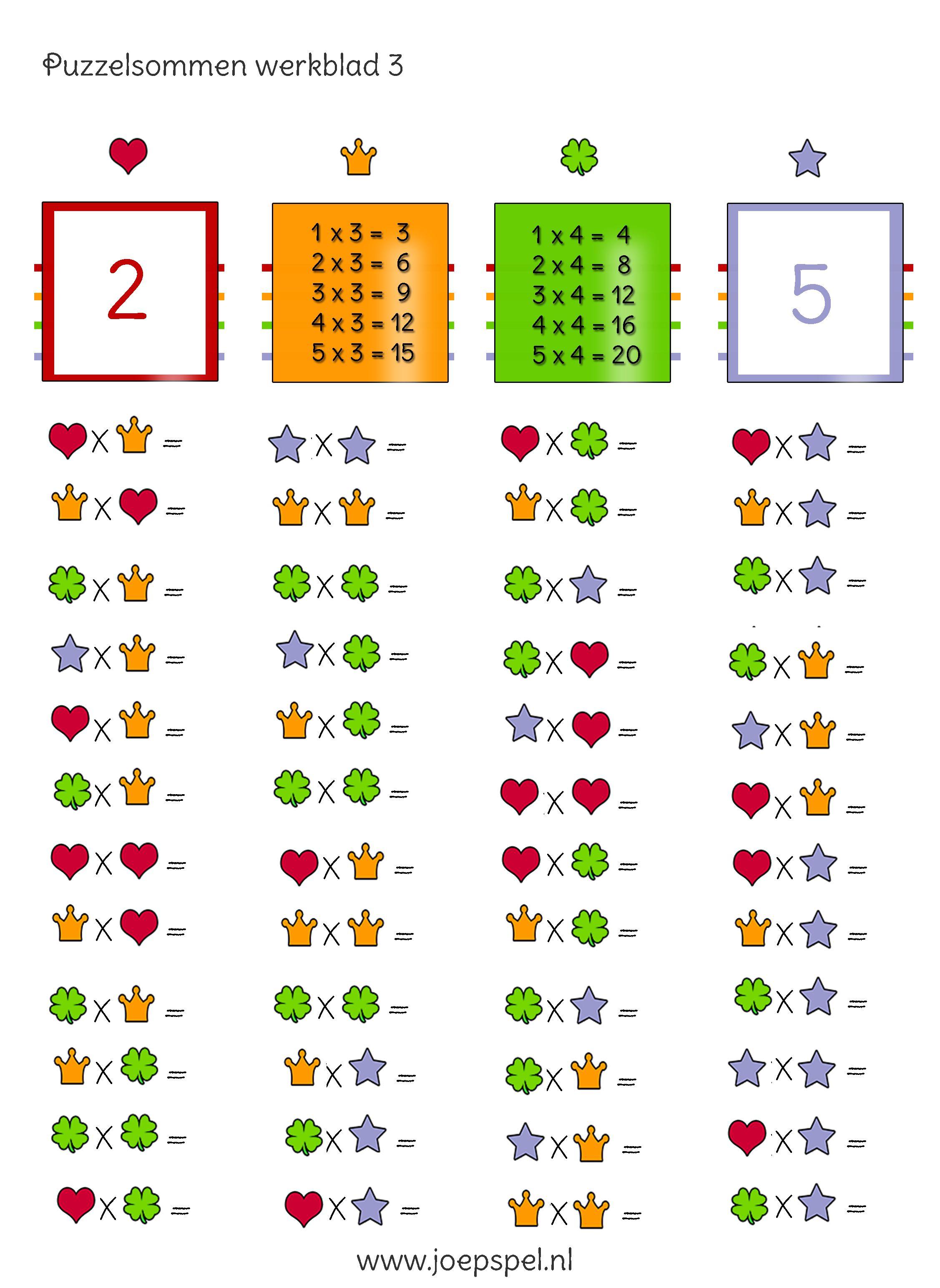 Tafel Van 2.Ken Je De Tafel Van 2 3 4 En 5 Nog Niet Zo Goed Bij Deze