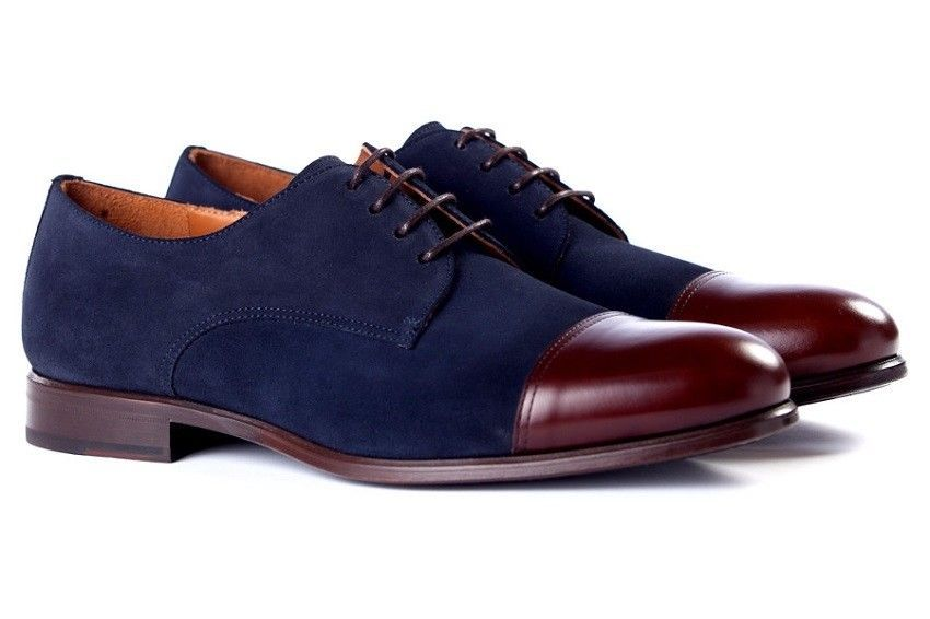 Handmade Two Tone Formal Shoes Men Maroon And Navy Blue And Maroon Dress Shoes Maroon Shoes Leather Shoes Men Dress Shoes Men