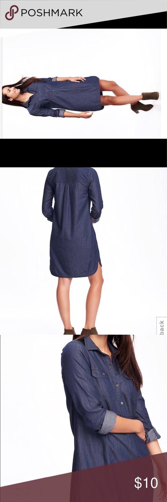 Last call! Old navy chambray shirt dress for women