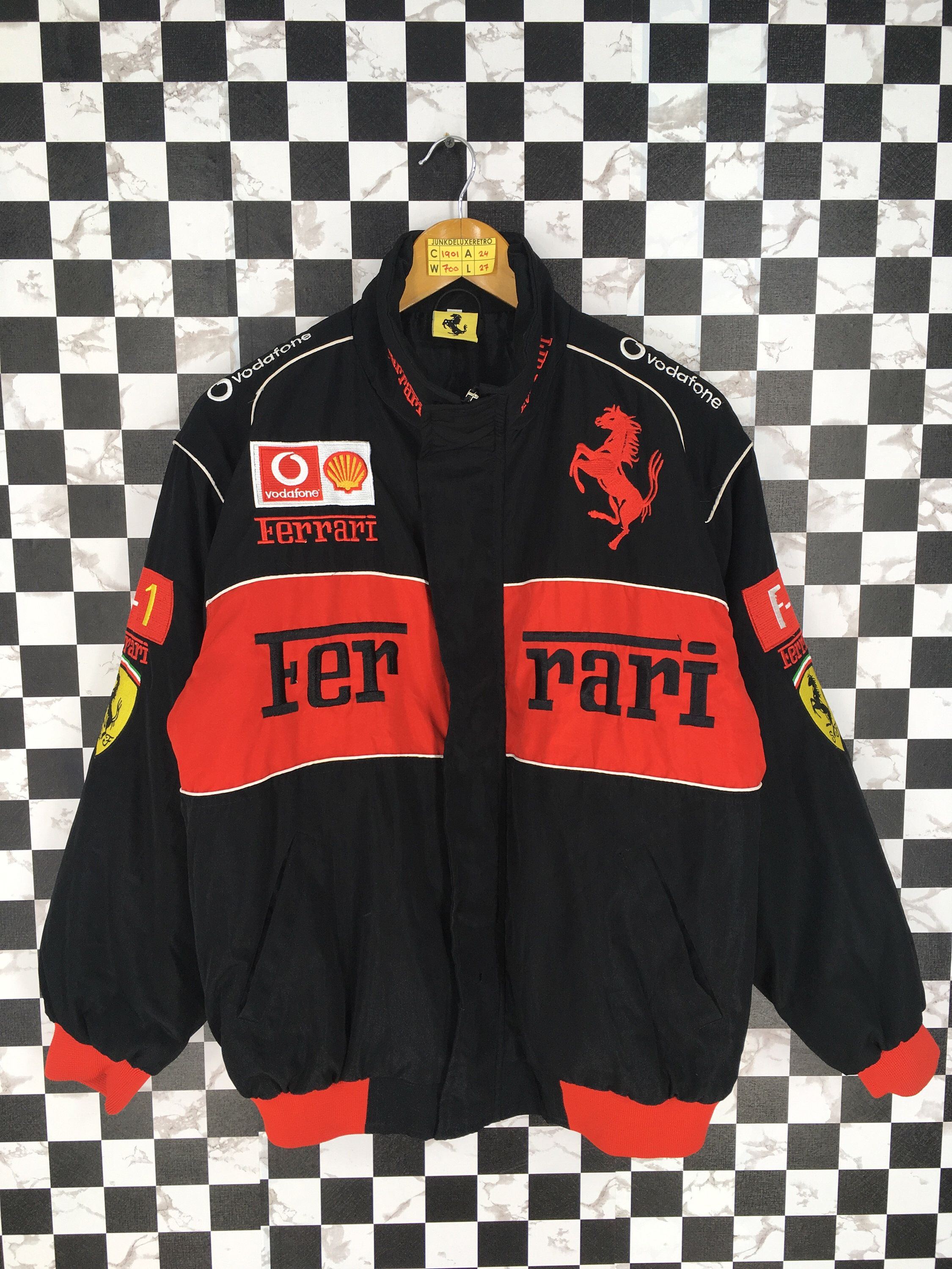 Excited To Share This Item From My Etsy Shop Ferrari Bomber Jacket Medium F1 Team Vintage 9 Vintage Jacket Outfit Bomber Jacket Vintage Vintage Racing Jacket [ 3000 x 2250 Pixel ]