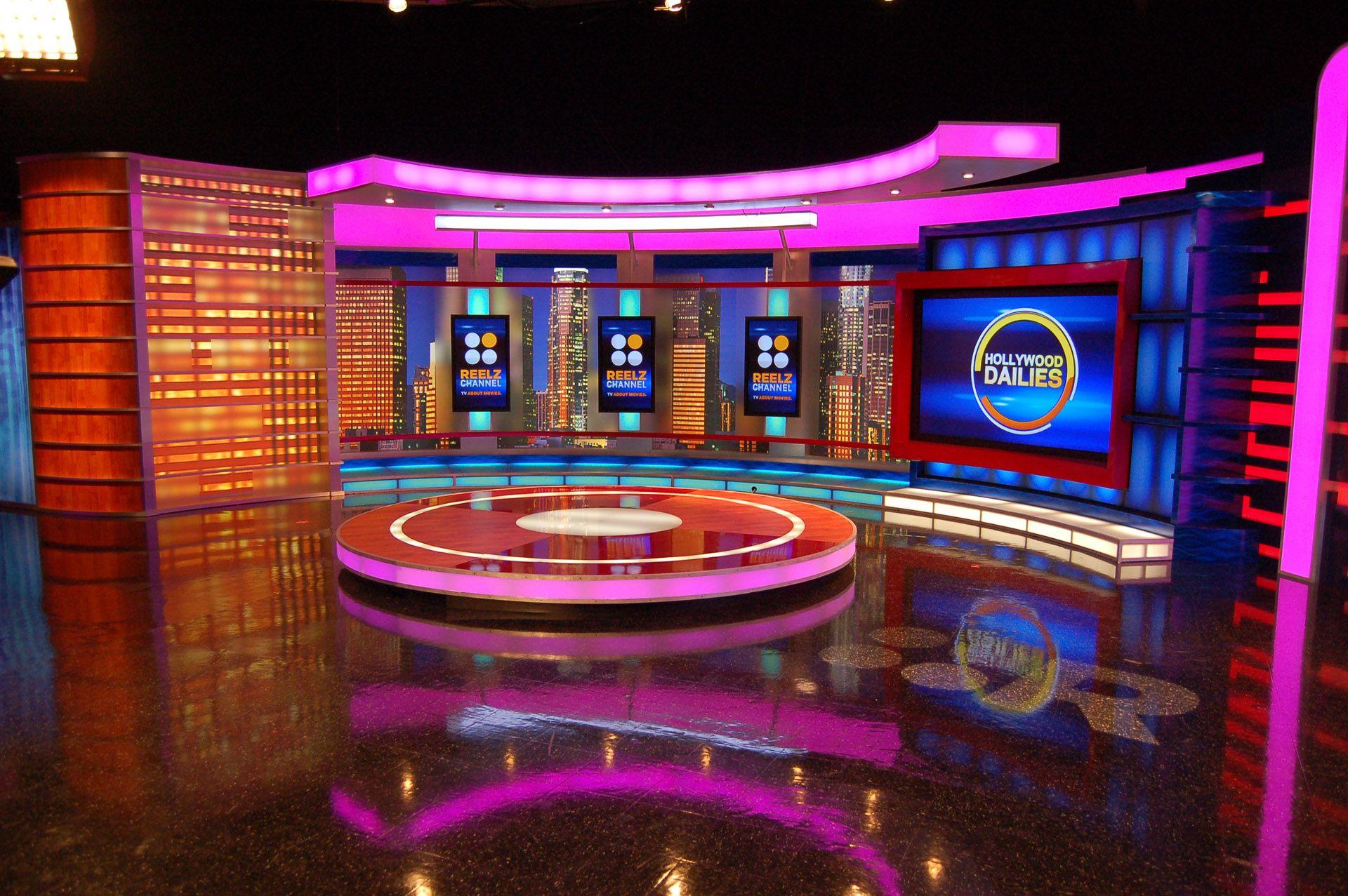 Award winning set design with fx design group stage for Tv set interior design