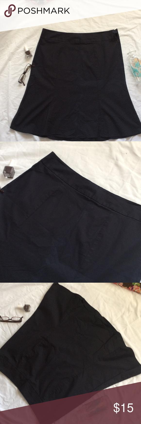 Black side zipper gap size 16 skirt Black gap size 16 skirt. Cotton/ spandex blend. Side zipper. Good condition. No trades. GAP Skirts