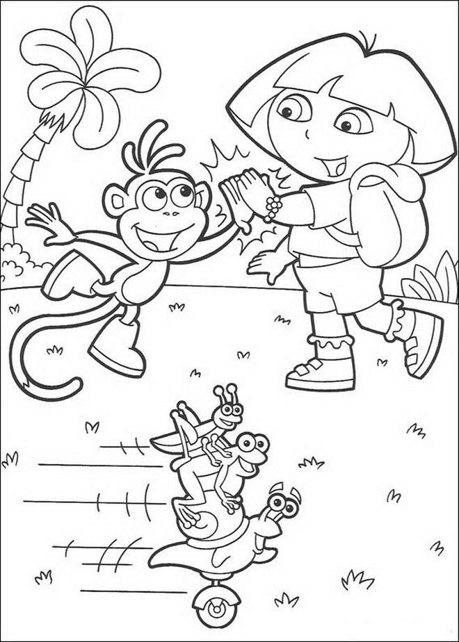 coloring page Dora the Explorer - Dora the Explorer, website link - new dora christmas coloring pages free printable