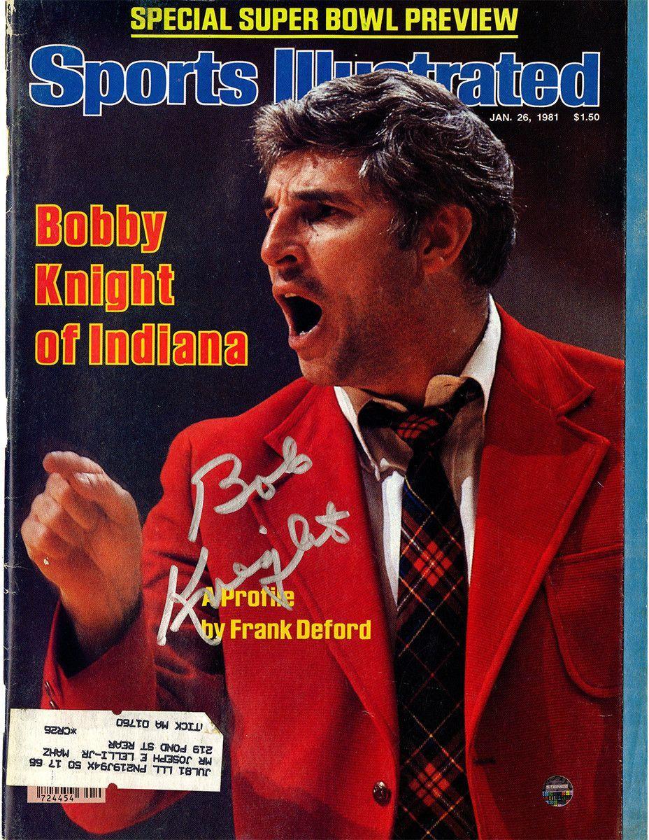 Bob Knight Signed 1/26/81 Sports Illustrated Magazine