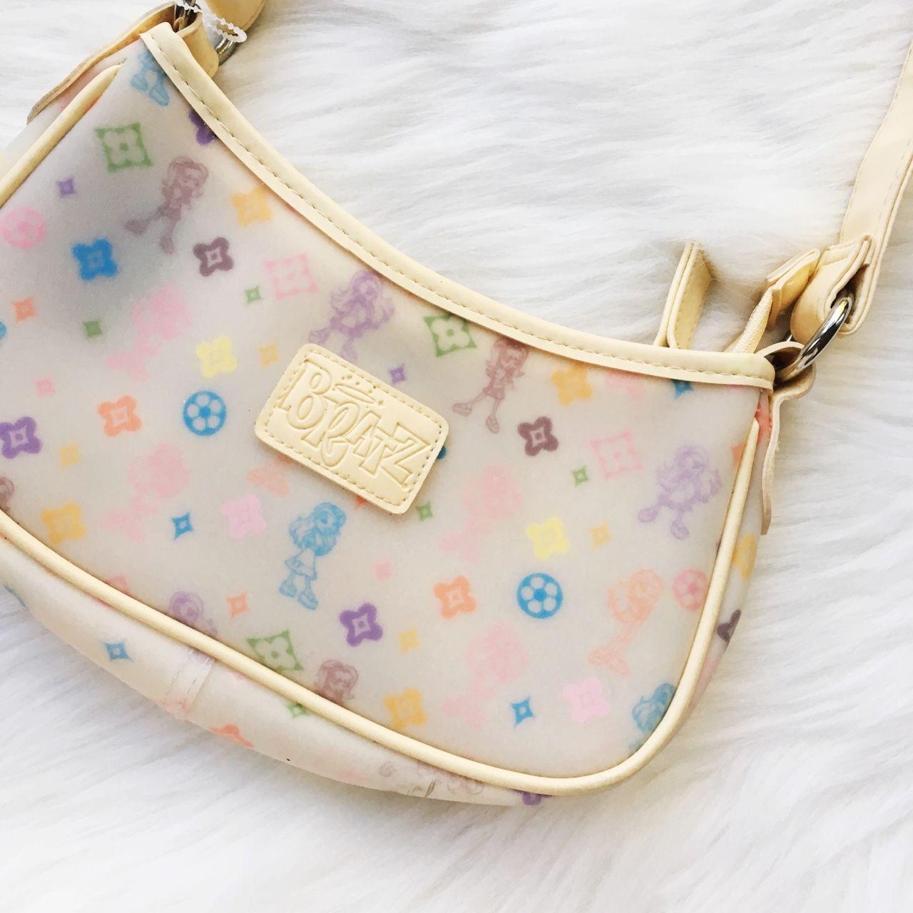 Vintage Y2k Bratz Dolls X Louis Vuitton Like Print Depop In 2020 Vintage Lv Bag Bags Luxury Bags