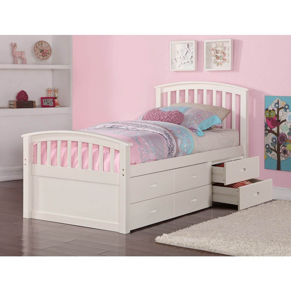 Canada Bed Donco Kids Twin 6 Drawer Storage Bed In Dark Cappuccino Or White