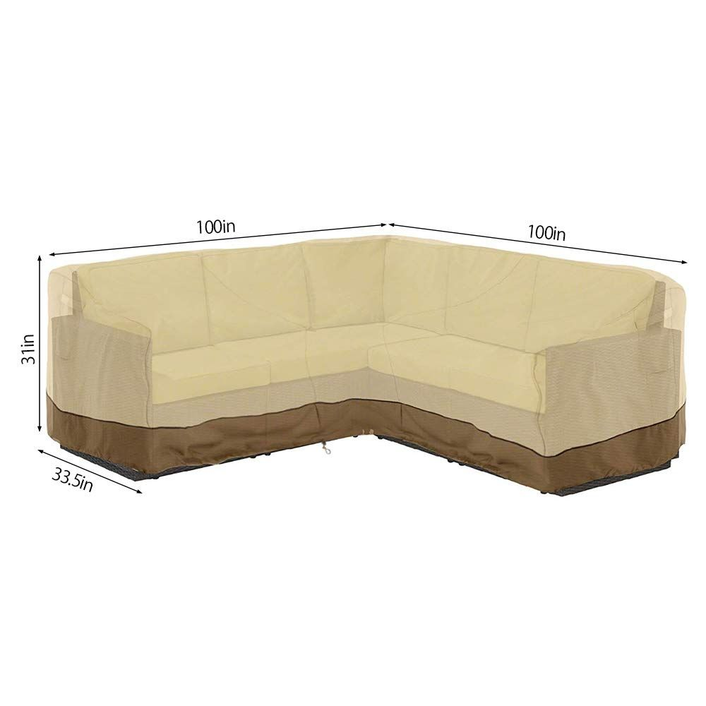 Scorpiuse Sectional Waterproof Dust Proof Furniture In 2020 Sectional Patio Furniture Outdoor Furniture Covers Furniture