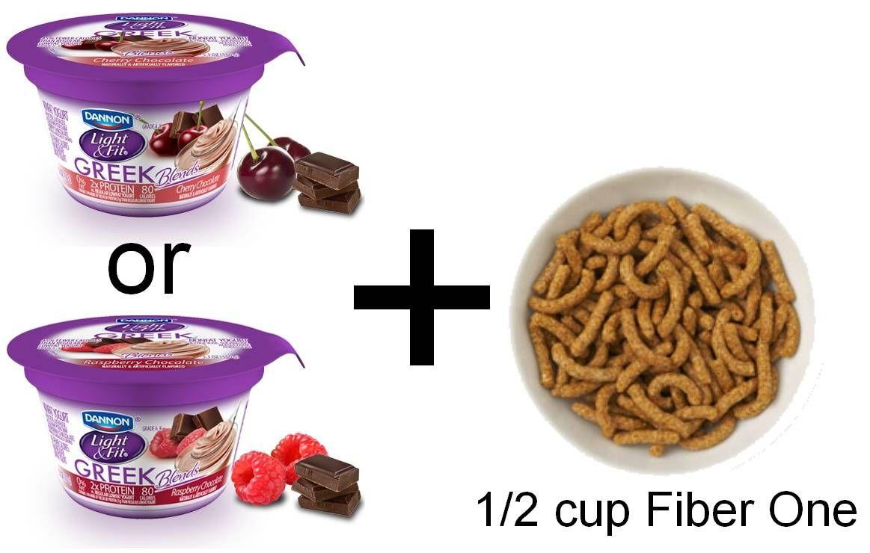 Dannon light fit greek yogurt 12 c fiber one cereal
