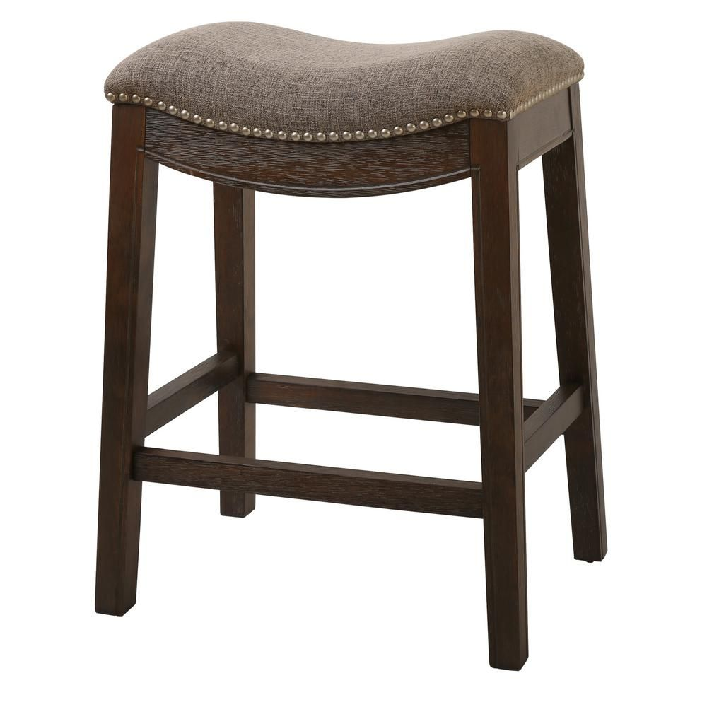 New Ridge Home Goods Saddle Style 25 Counter Height Stool With Cobble Fabric Nh100154 Fcs Wg The Home Depot Counter Height Stools Counter Stools Bar Stools