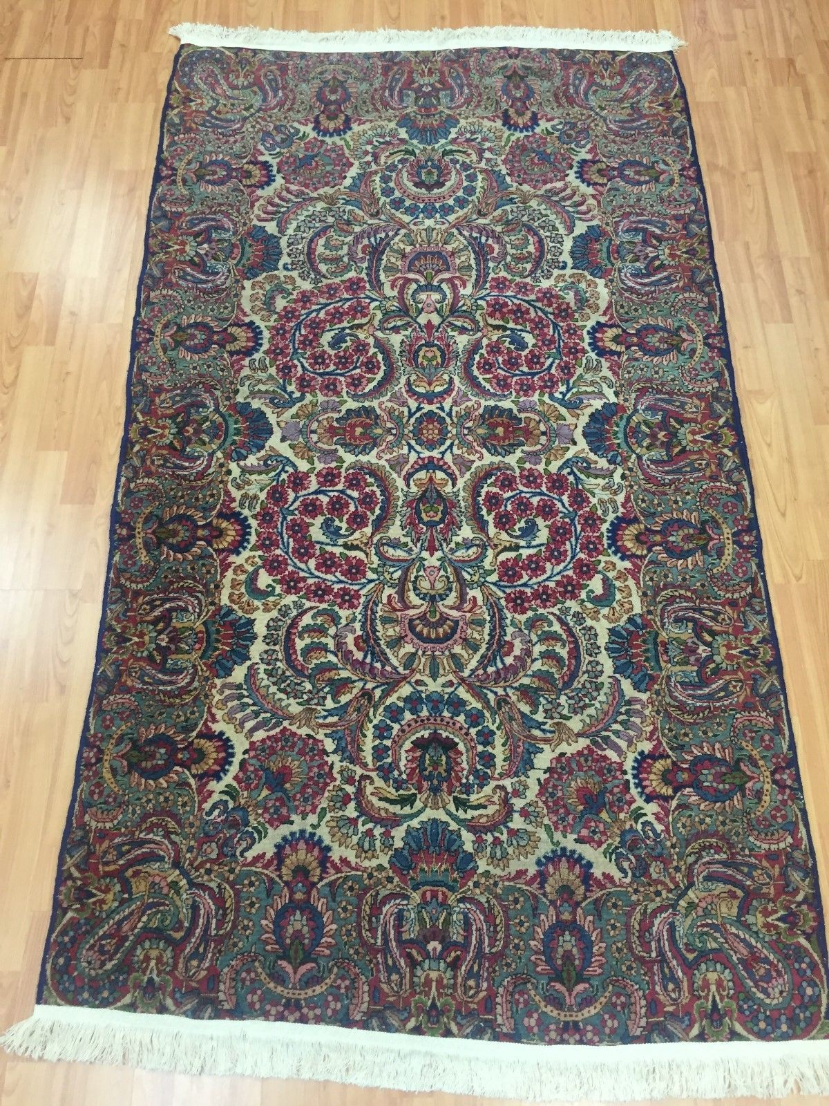 4 X 7 Antique Persian Kerman Oriental Rug 1930s Hand Made 100 Wool Ebay