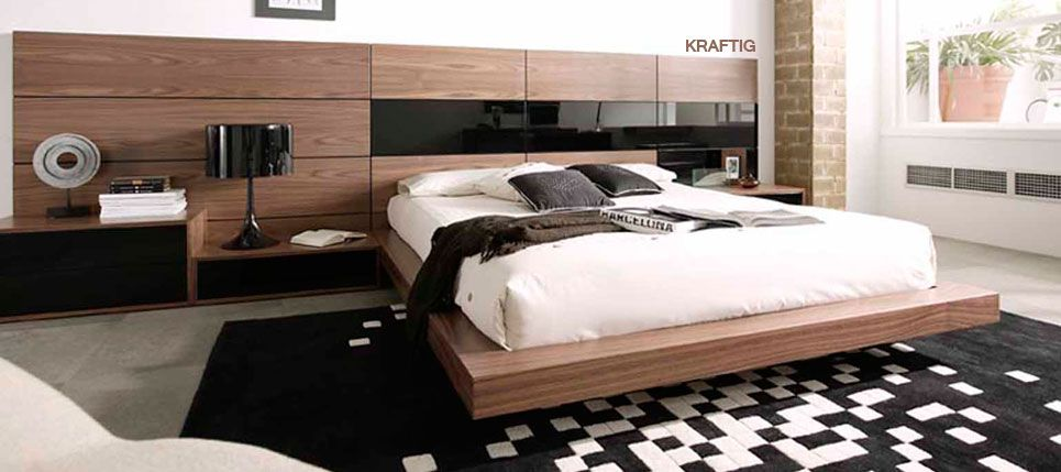 Cama moderna con espaldar elongado | Bedrooms | Pinterest | Bed room ...