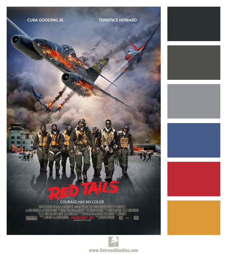 """Color Palette Based On The Movie Poster For """"Red Tails"""