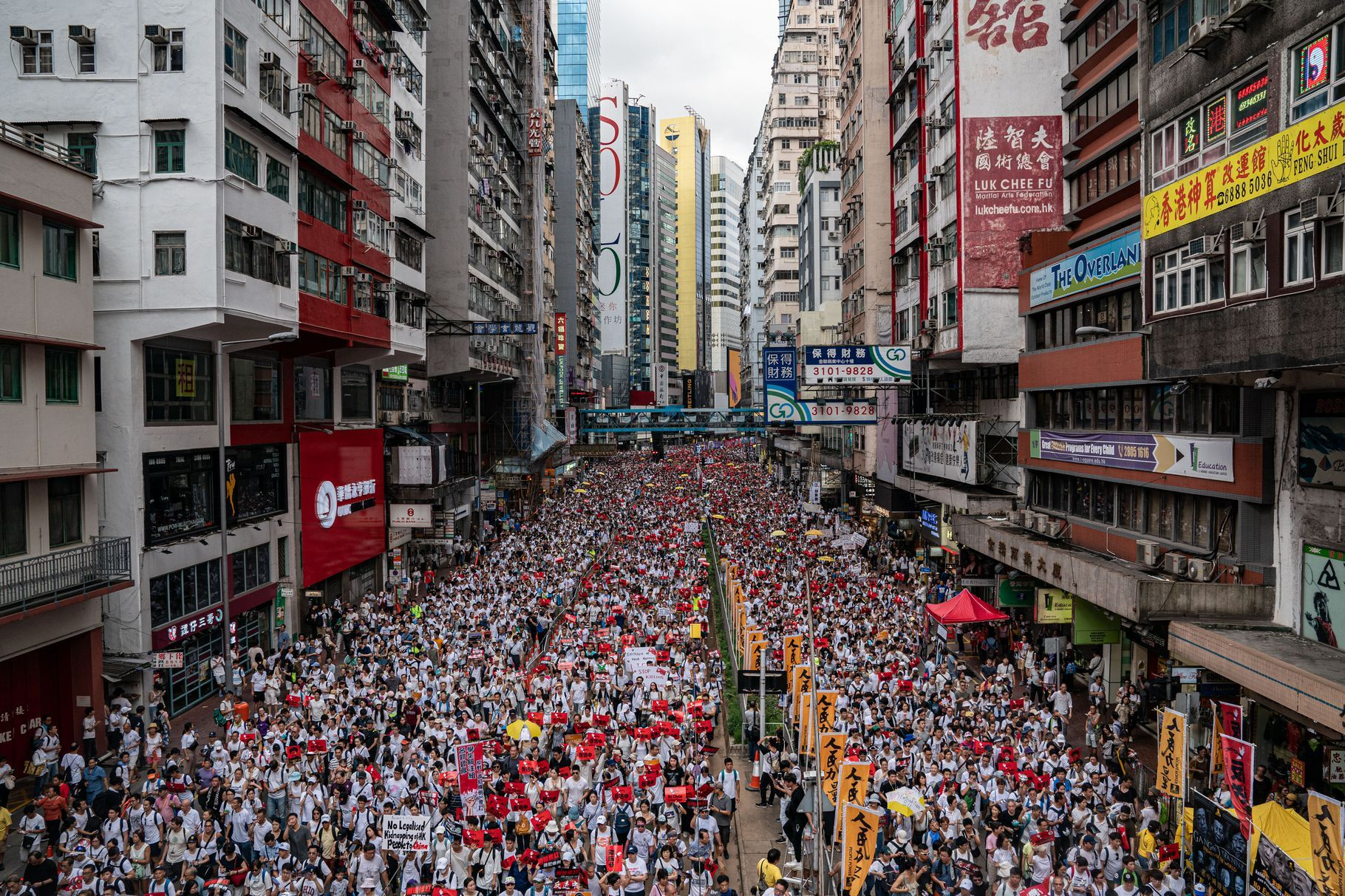 Hundreds of thousands attend protest in Hong Kong over