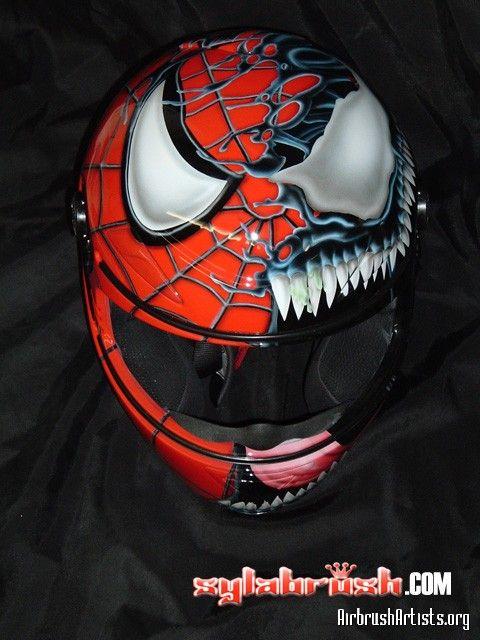 Spidey vs venom helmet walyou motorcycle pinterest venom helmets and motorcycle helmet - Spider man moto ...