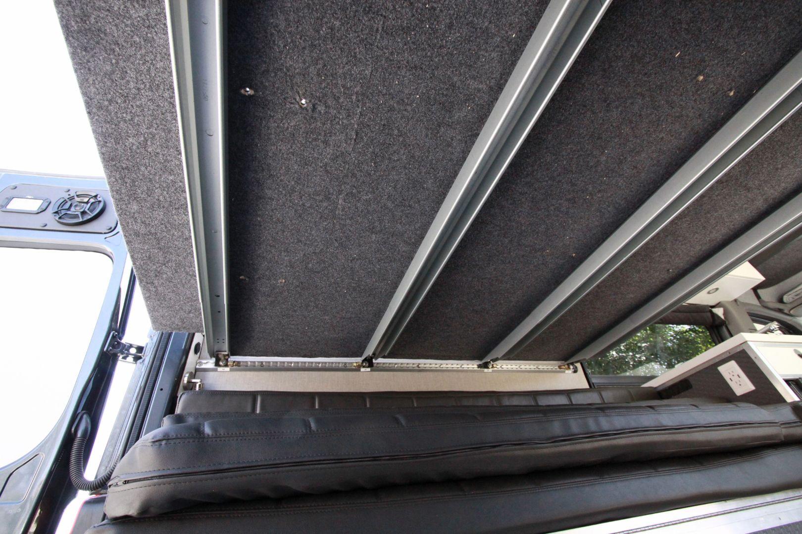 Sprinter Van Diy 3 Panel Platform Bed On L Track Sprinter Van