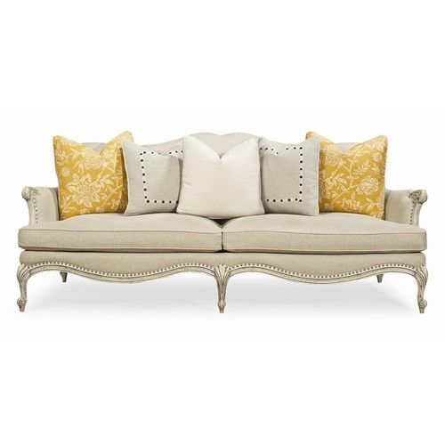 Caracole Upholstery Oui Oui Stationary Sofa With Intricate Carved Frame By  Schnadig   Olindeu0027s Furniture