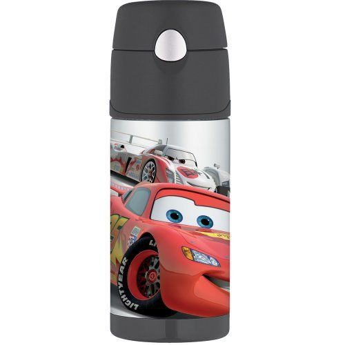 Thermos Funtainer Bottle  Disney's Cars: http://www.amazon.com/Thermos-Funtainer-Bottle-Disneys-Cars/dp/B002J00WMA/?tag=akahuggins-20