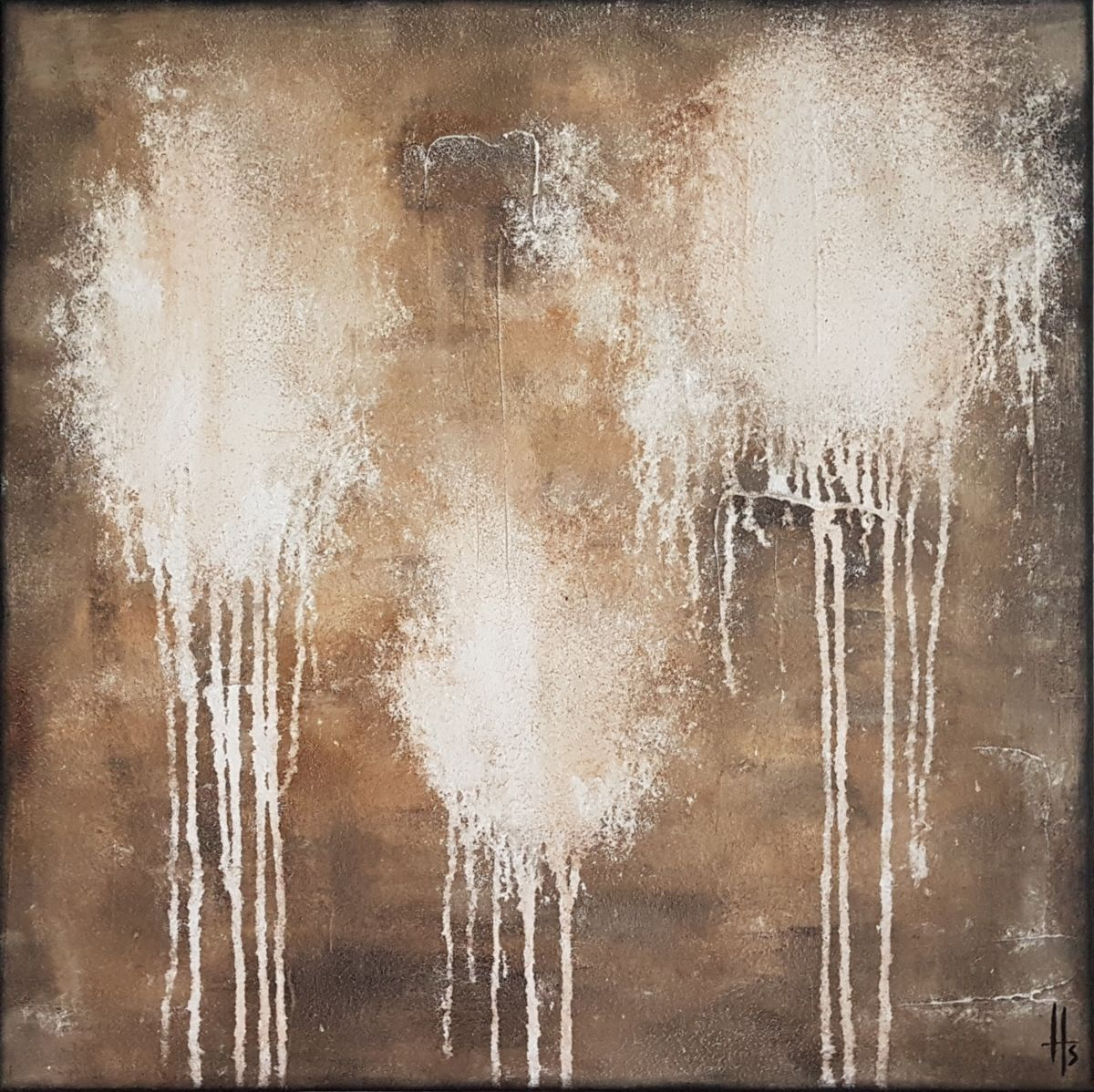tableau peinture abstrait style industriel