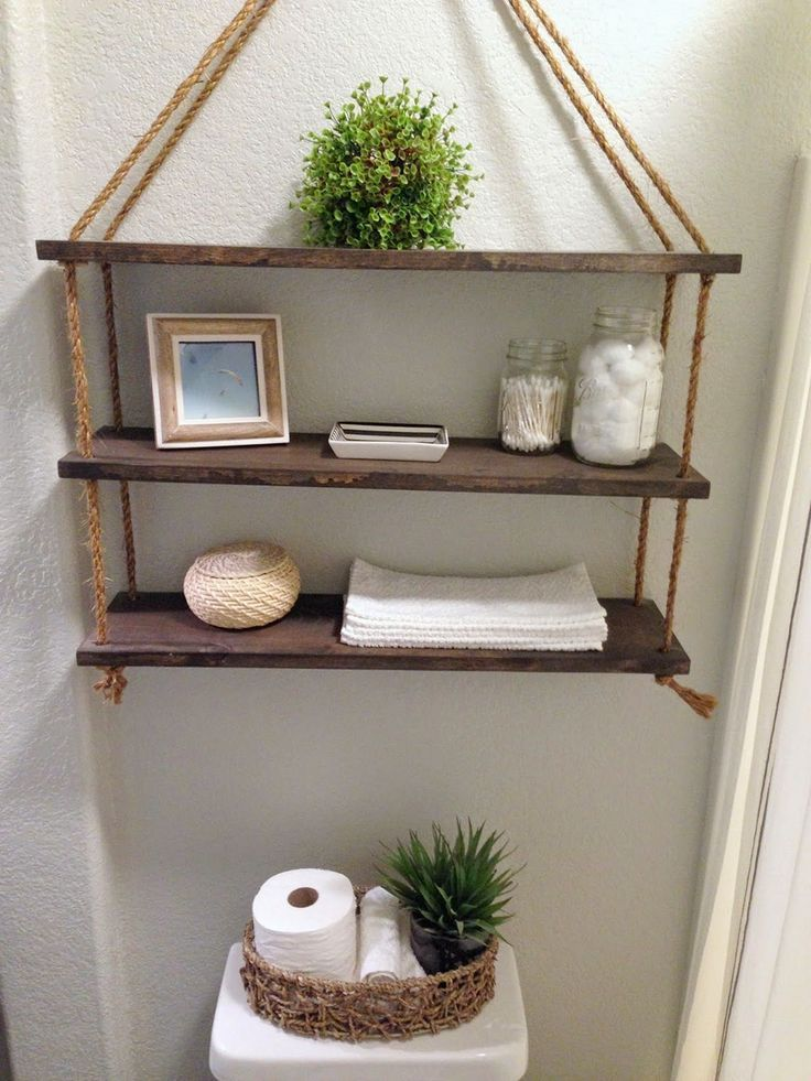 24 DIY Bathroom Wall Shelves Design And Organization Ideas,  #Bathroom #Design #DIY #diybathr…
