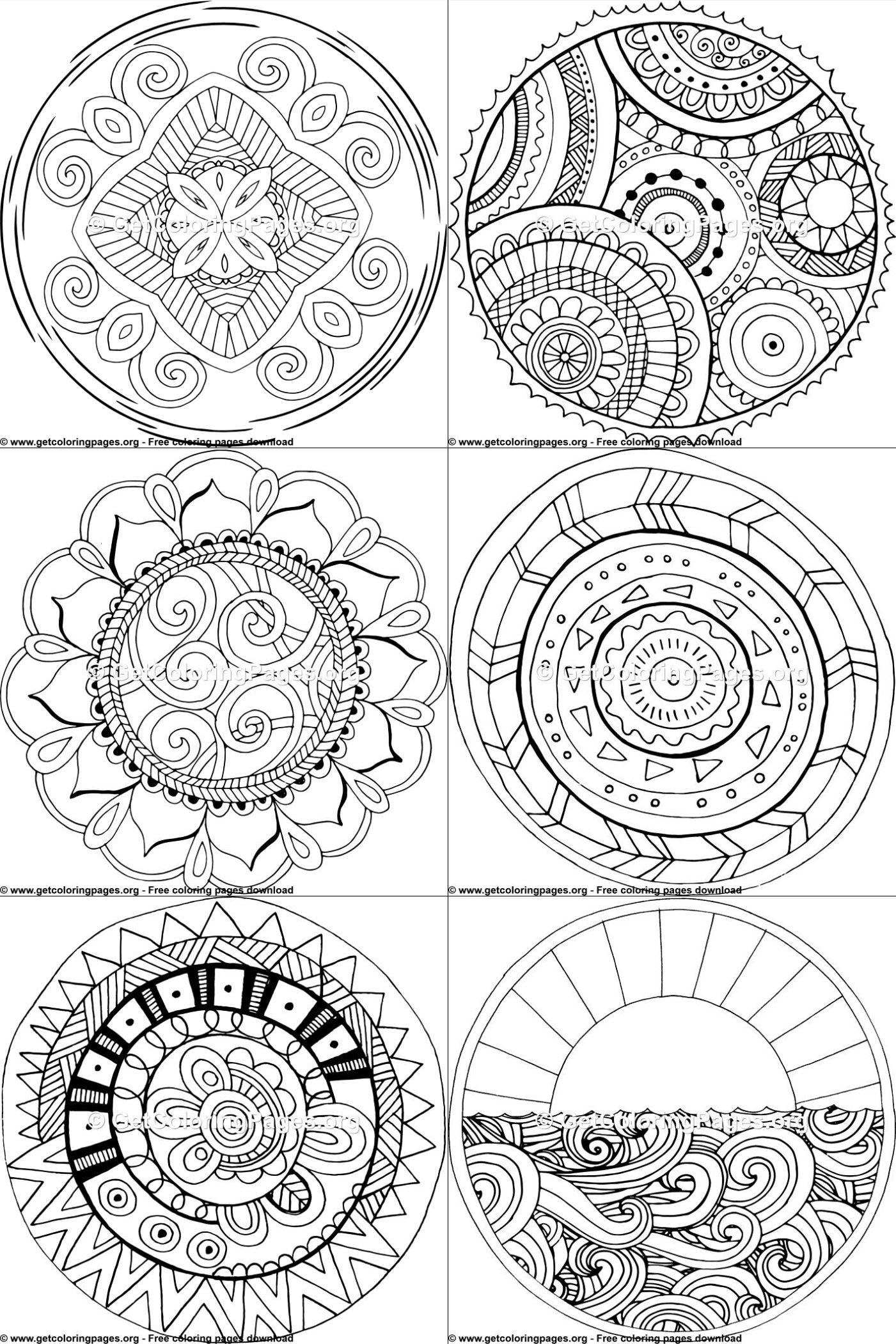 mandalas design pattern free printables free downloads. Black Bedroom Furniture Sets. Home Design Ideas