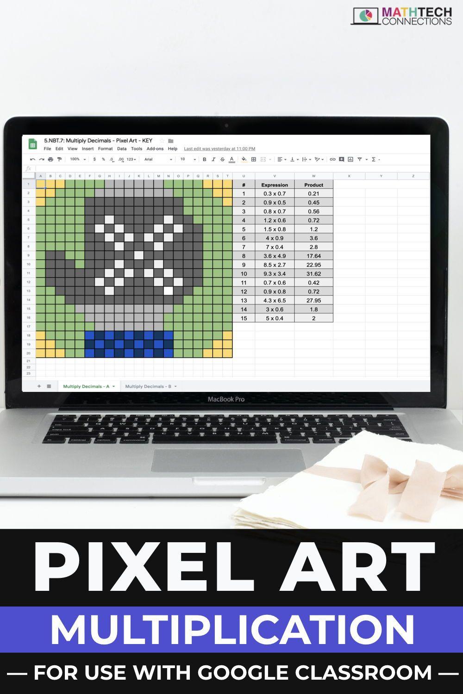 Multiply Decimals Digital Math Pixel Art Mystery Picture Google Sheets Math Fluency Activities Math Fluency Math [ 1500 x 1000 Pixel ]