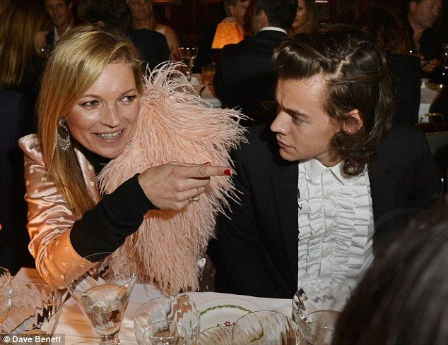 Harry Styles with Kate Moss at an event in London. via MailOnline