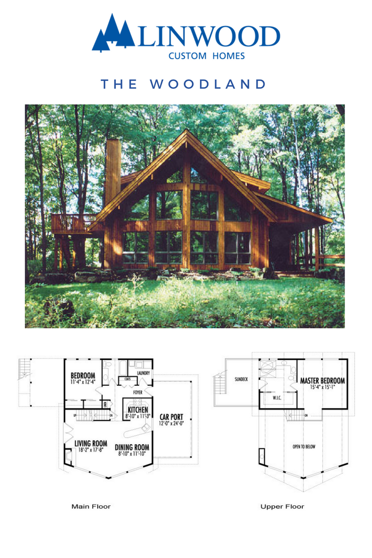 Looking For A Perfect Retreat In The Woods The Woodland Home Package Is A Beautiful Prow And Cedar Post And Beam D Lake House Plans Linwood Homes House Plans