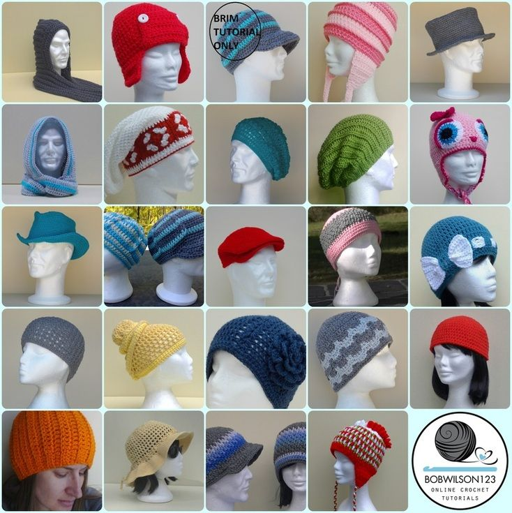 Crochet Hats Free written patterns and tutorials | Crochet hats ...