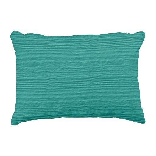 Turquoise Wood Grain Color Accent Accent Pillow