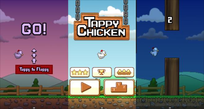 Tappy Chicken il gioco ispirato a Flappy Bird sviluppato da Epic Games