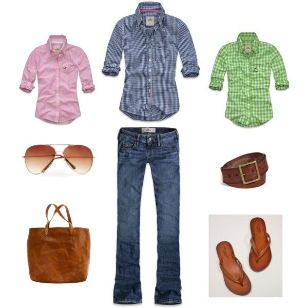 Hollister Mix, created by G on Polyvore  *Doesn't have to be Hollister, but I like this look