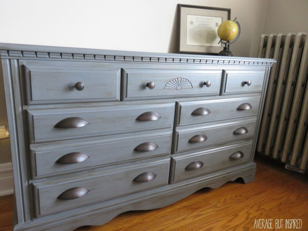 Dresser Makeover With Americana Decor Chalky Finish Paint