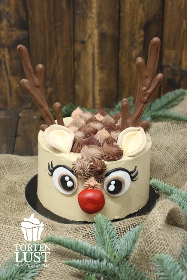 {6. Türchen} Rudolf - Törtchen (TortenLust) #nikolausbacken