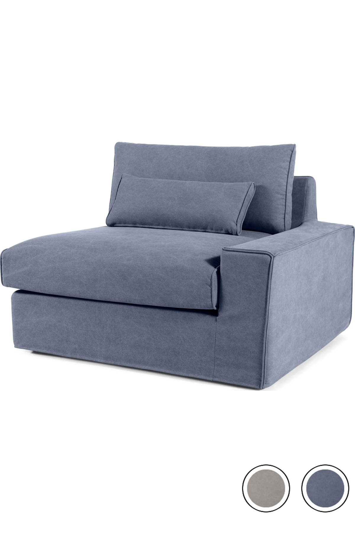 Best Made Washed Blue Cotton Armchair Sofa Modular Sofa Cover 400 x 300