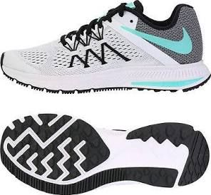 Nike 2016 Women s Zoom Winflo 3 Running Shoes White Mint Gray Black 831562- 101 - 230 US 6 a0ad75c1b2e63