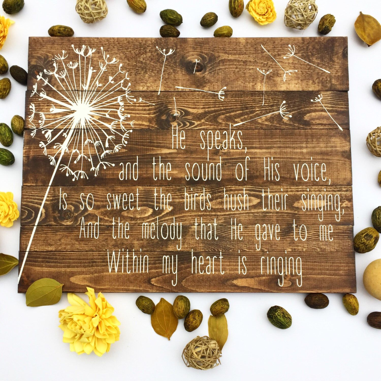 In the Garden Pallet Sign, In the Garden Hymn Sign, Wooden Hymn Sign ...