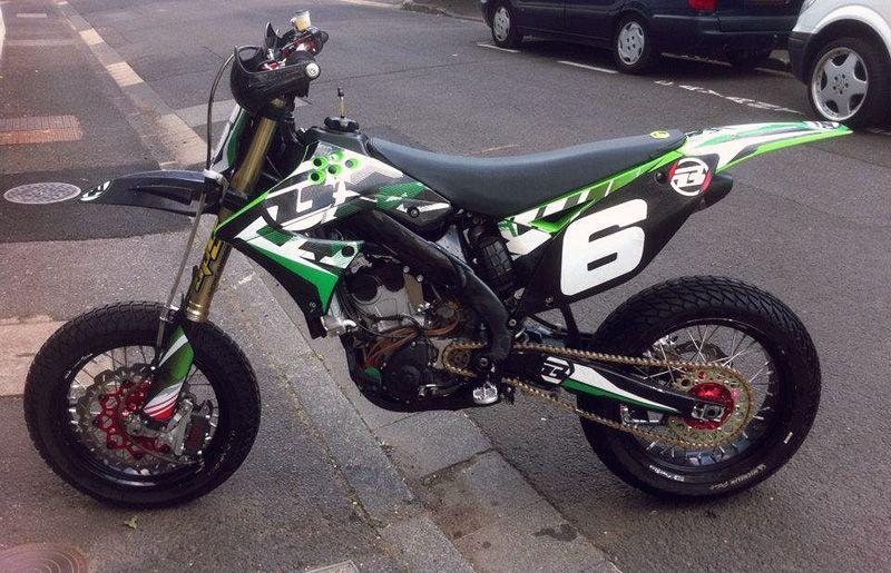 Supermoto Kxf250 Supermoto Pit Bike Motorcycle