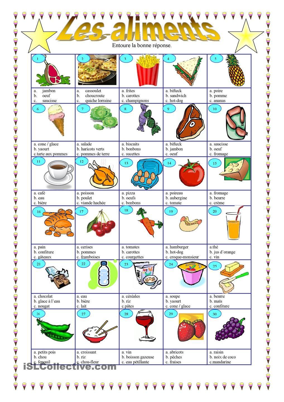 Les aliments | alimentation / nutrition | Pinterest | Unterlagen ...
