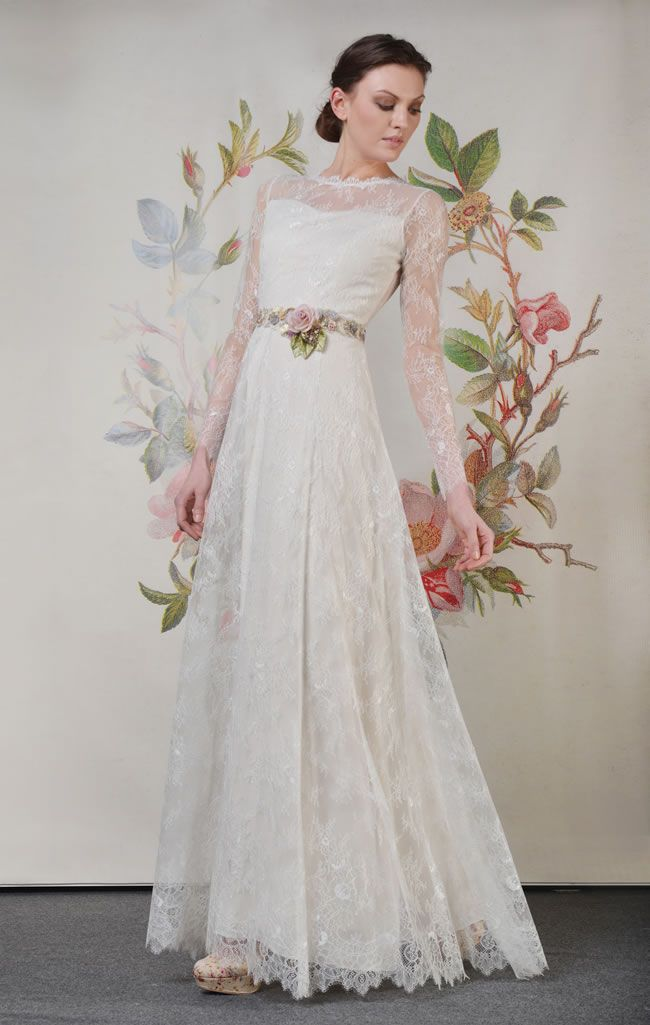 Boho brides will love the amazing 2014 Claire Pettibone collection ...