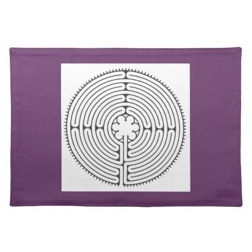 Chartres Labyrinth Placemat Finger Labyrinth Cloth Zazzle Co Uk Labyrinth Chartres Placemats