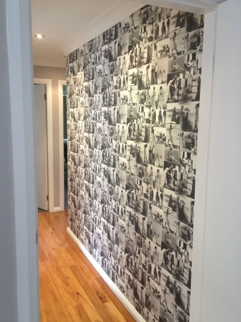 Black And White Photo Collage Feature Wall