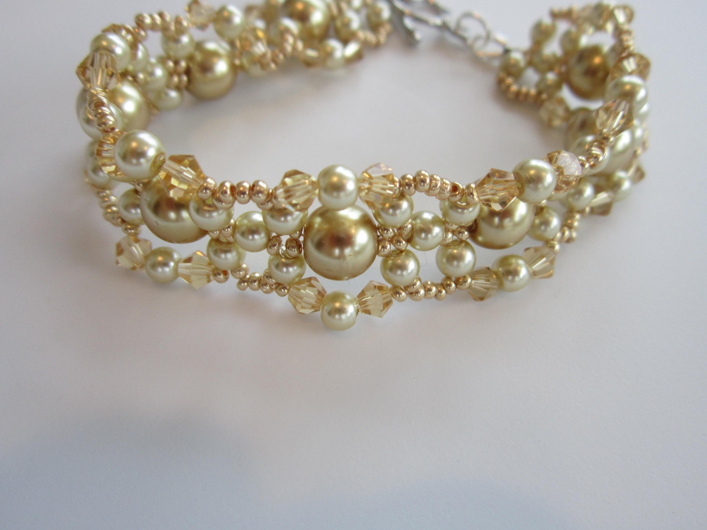 Gold Bracelet by Svetlana McDaniel - She shows a great technique for ...