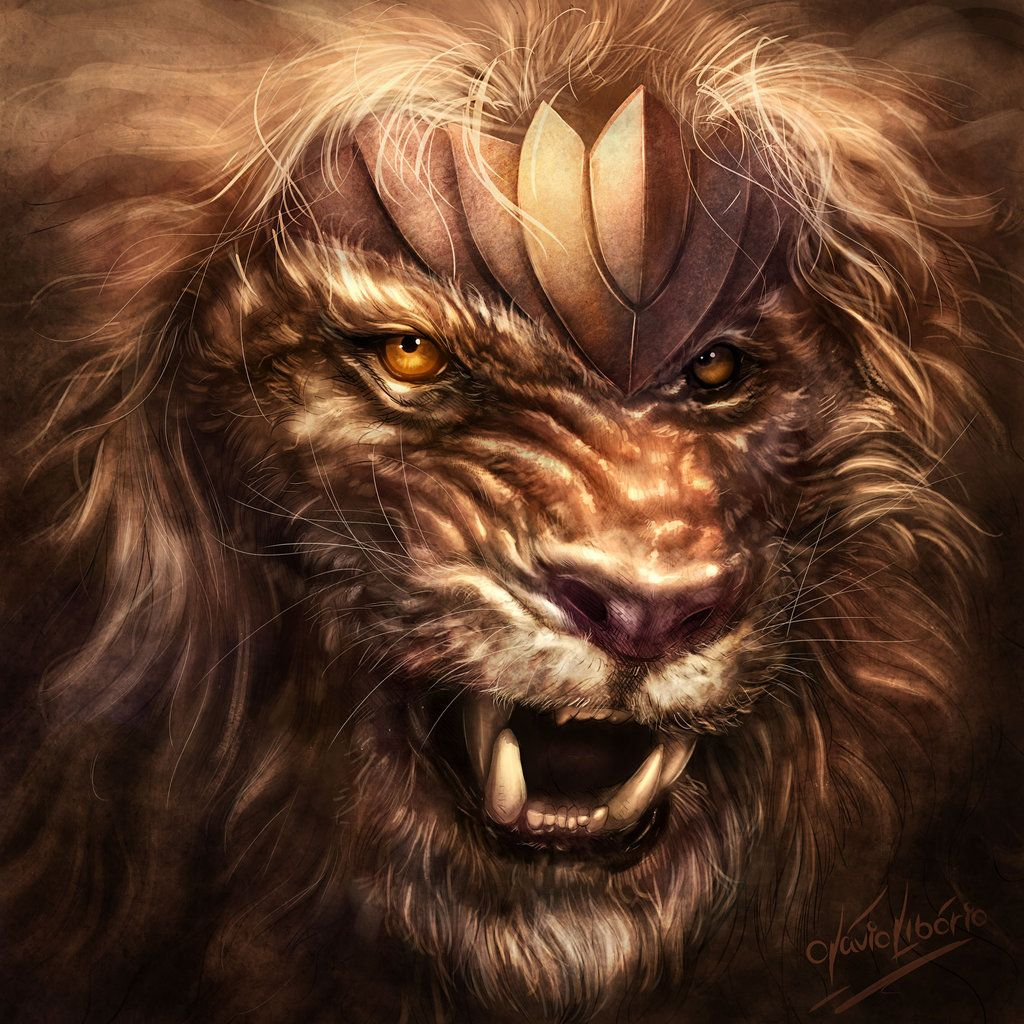 Lion Warrior By Otavioliborio