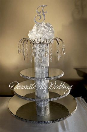 Decorate My Wedding Crystal Wedding Cupcake Stands 3 Tiers Greta